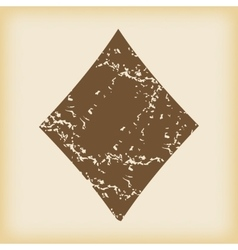 Grungy diamonds icon vector