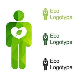 Green ecology logo or icon in eps nature logotype vector