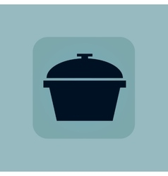 Pale blue pot icon vector