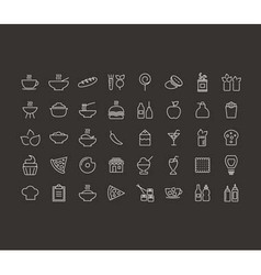 Food outline icon vector