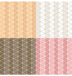 Four seamless patterns with line grid patterns vector