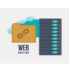 Web hosting and cloud computing vector