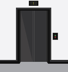 Elevator with closed doors vector