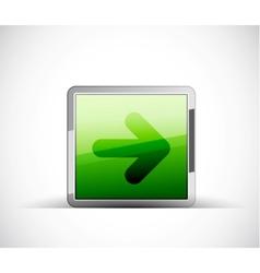 arrow button vector image
