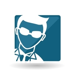 Hacker icon design vector