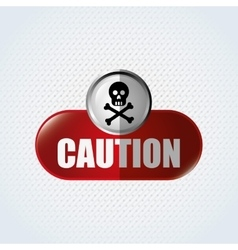 Caution sign design vector