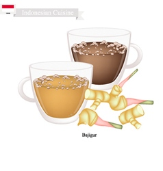 Bajigur or indonesian hot and sweet coffee vector