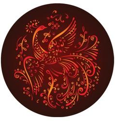 decorative mythical bird vector image