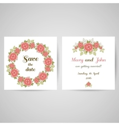 Postcard with roses vector
