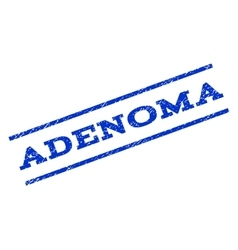 Adenoma Watermark Stamp vector image vector image