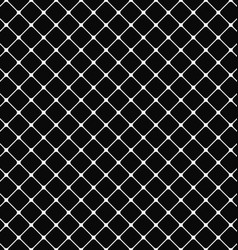 Black white rounded square pattern background vector image vector image