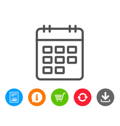 Calendar line icon event reminder sign vector