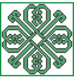 Celtic endless knot in clover with hearts elements vector image vector image