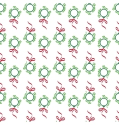 Christmas balls seamless wrapping pattern vector