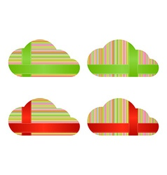 clouds with multicolored horizontal and vertical vector image
