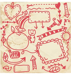 Doodle frames on the paper texture vector image vector image
