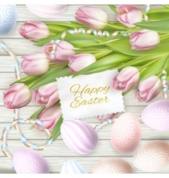 Easter eggs with card EPS 10 vector image vector image