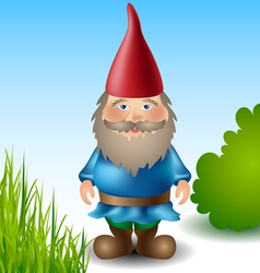 Garden gnome vector image vector image