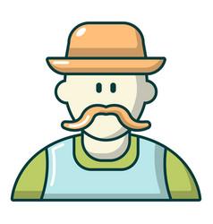 Gardener man icon cartoon style vector