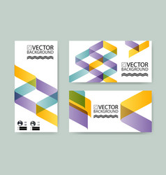 Geometric trendy background placard striped vector