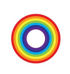 Rainbow circle icon vector