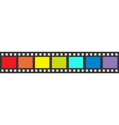 Rainbow flag film strip frame straight shape vector