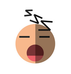 sleep emoticon cartoon design vector image