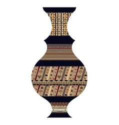 Tribal vase vector