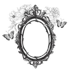 Vintage hand drawn frame vector image vector image