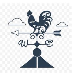 Weather vane rooster vector