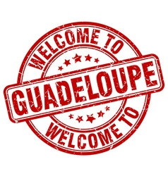 welcome to Guadeloupe vector image vector image