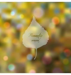 Wonderful bokeh autumn background vector