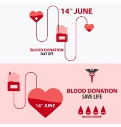Blood donation banner medical vector