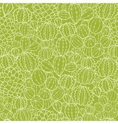 Cactus plants seamless pattern background vector