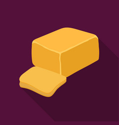 Cheddardifferent kinds of cheese single icon in vector
