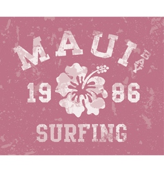 Maui Bay surfing vector image