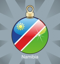 Namibia flag on bulb vector