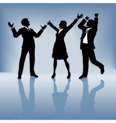 business people celebrate vector image