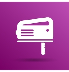 Cutting fretsaw symbol appliance icon vector