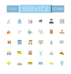 Flat service icons vector