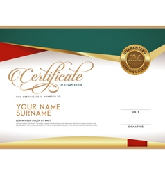 Certificate template and frame vector
