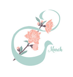 8 march greeting card women s day design template vector