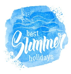 Best summer holiday vector