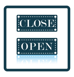 Shop door open and closed icon vector