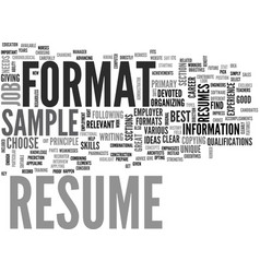 A resume sample will give you a clear idea of vector
