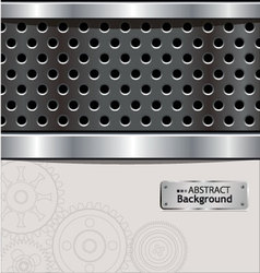 abstract perforated background vector image vector image