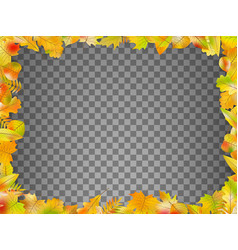 Autumn leaves frame isolated eps 10 vector