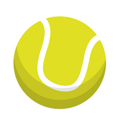 ball tennis sport equipment vector image