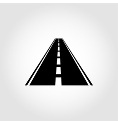 Black car road icon vector