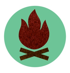 campfire flat icon vector image vector image